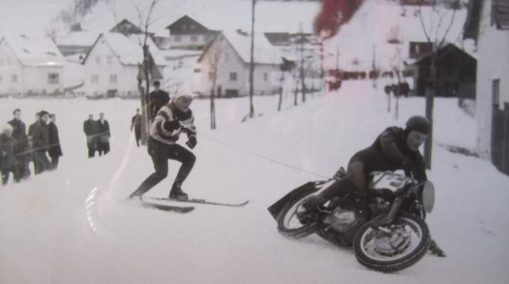 Hans Knittl beim Skijöring in St. Veit/Gölsen