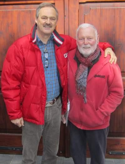 Albert Leeb (links) mit seinem Freund Hans Knittl (Foto: Reischer-Kucera 2014)