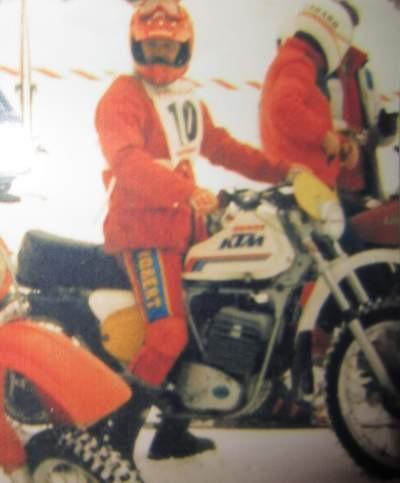 Albert Leeb mit seiner KTM 250